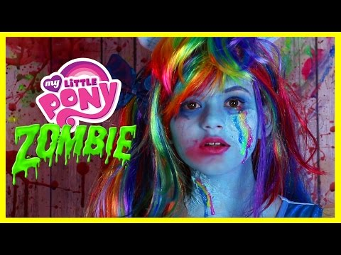 ZOMBIE MY LITTLE PONY RAINBOW DASH MAKEUP TUTORIAL! Equestria Doll Cosplay Halloween | KITTIESMAMA