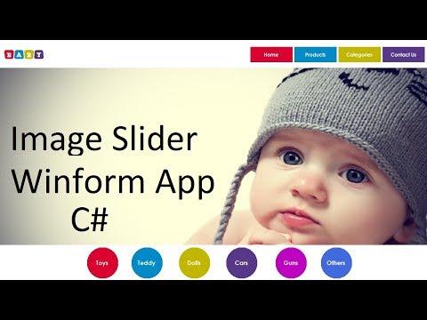 Designing an Image Slider in Windows form Application C#