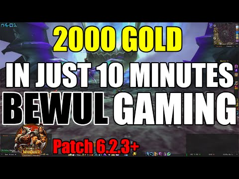 2000 Gold in 10 minutes - BoT Trash Farm WoW 6.2.3 Gold farming guide