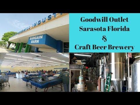 Goodwill Outlet Bargain Bin Sarasota Florida & Craft Brew Beer