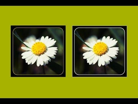 Make a rounded frame in GIMP 2.8 tutorial