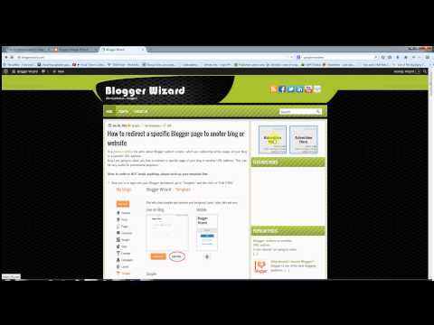 Blogger specific page and multiple pages redirection