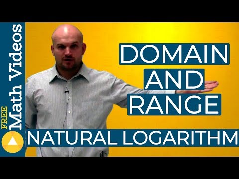 How to find the domain and range of a natural logarithmic function