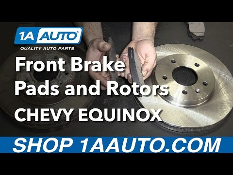 How to Install Replace Front Brake Pads and Rotors 2007-09 Chevy Equinox