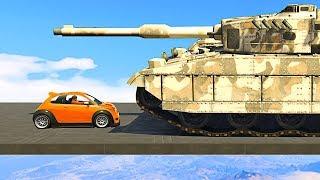 SMALLEST CAR vs. BIGGEST TANK! - GTA 5 Funny Moments