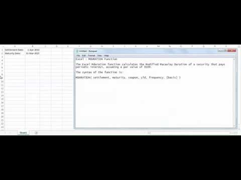 Excel MDURATION function - how to use MDURATION function
