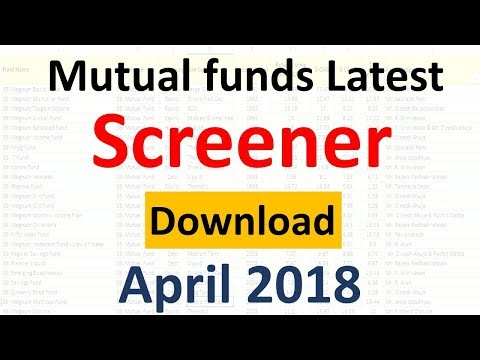 Download Latest Mutual fund Screener Free ( April ) | Select Best mutual funds 2018 |