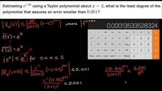 Worked example: estimating sin(0 4) using Lagrange error bound | AP