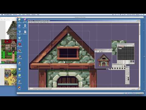 How to make pixel art house asset for games