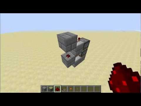 Minecraft - Vertical Double Piston Extenders - Tutorial