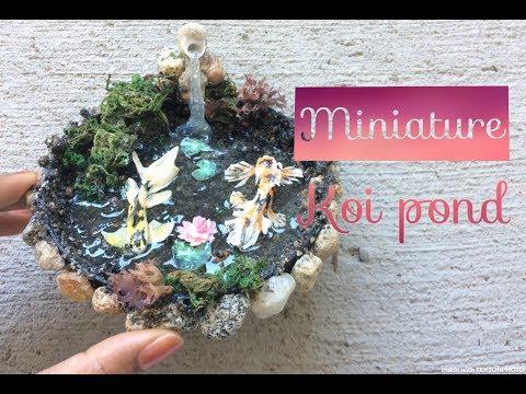 Miniature Koi pond Waterfall DIY-  Polymer clay /Resin tutorial
