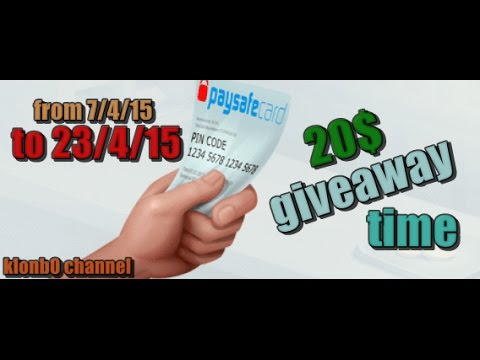 giveaway time I 20 $ paysafecard (from 7/4/15 to 23/4/15)