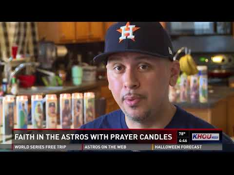 Angel creates prayer candles to help Astros