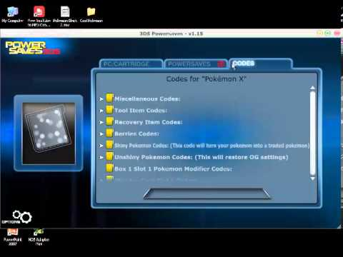 Pokemon X and Y PowerSaves + Shiny Requests Update