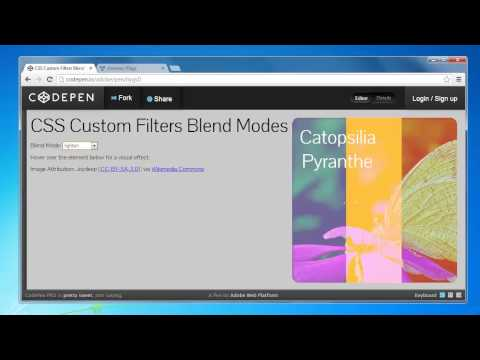 CSS Custom Filters Blend Modes demonstration in Chrome Canary