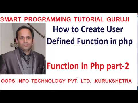 how to create user defined function in php in hindi/urdu!php  Funtion tutorial part 2