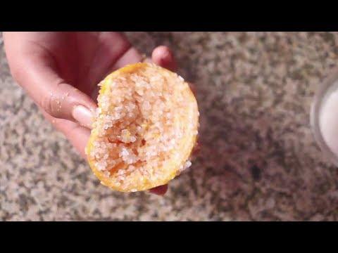Orange Body Scrubber for Clear, Glowing Skin | Scar Fading & Brightening DIY Scrub