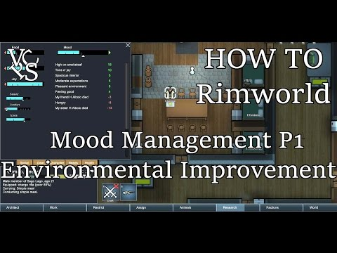 How To Rimworld: Mood Management P1 – Environment Art Item Quality