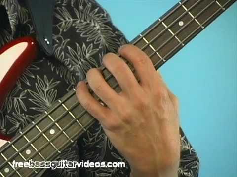 Beginner Bass Guitar Lesson: Left Hand Technique