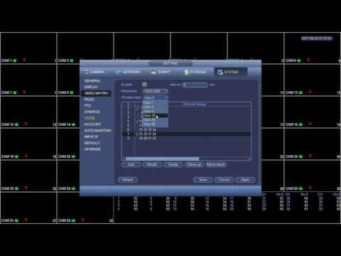 Using Video Matrix Options on DVR