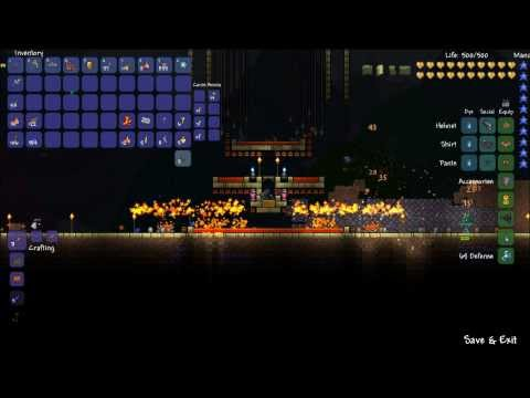 Terraria werewolf AFK farming device at full moon event