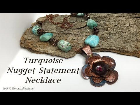 Turquoise Nugget Statement Necklace Tutorial
