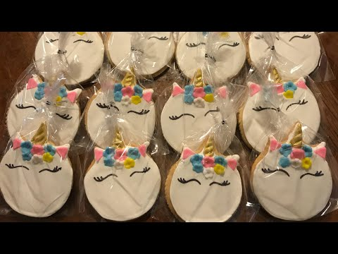 Unicorn cookies (galletas en forma de unicornio )