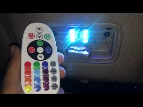DIM, INCREASE, CHANGE COLOR of this CAR INTERIOR LED with a REMOTE !!
