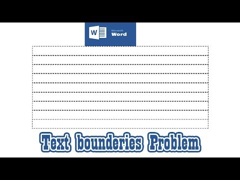 Text boundaries problem in Microsoft office 2013