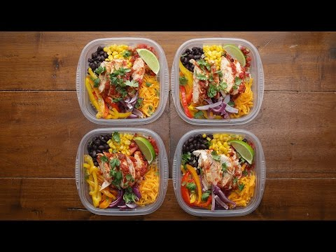 Weekday Meal-Prep Chicken Burrito Bowls