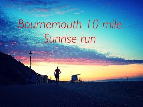10 miles along Bournemouth coast as the sun rises