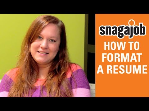 Job Interview Tips (Part 14): How To Format A Resume