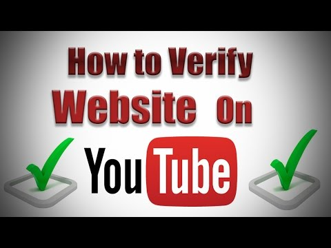 How to Verify Website on YouTube 2017