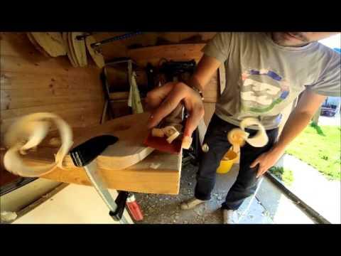 Shape d'un Handplane de bodysurf en bois