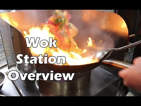 Stainless Steel Wok Station Overview