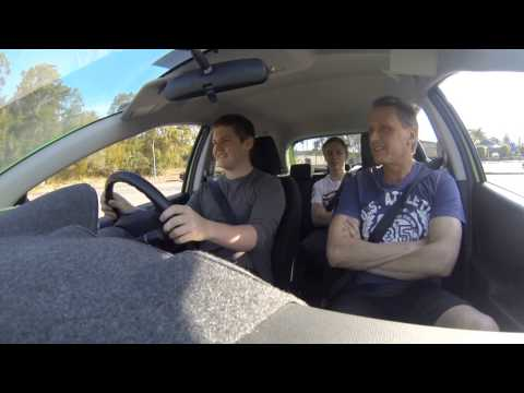 First Driving Lesson in Brisbane Australia by a South African using a gopro hero 3