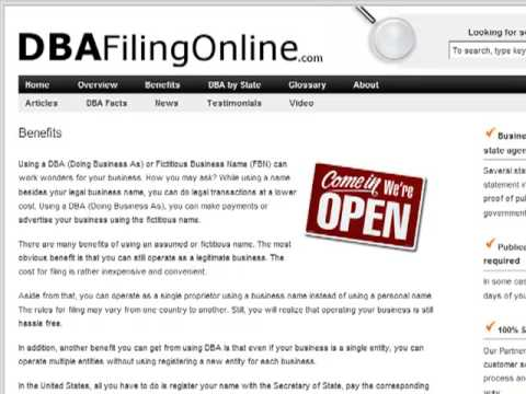 File a DBA Online - Get a Federal Tax ID or EIN Number