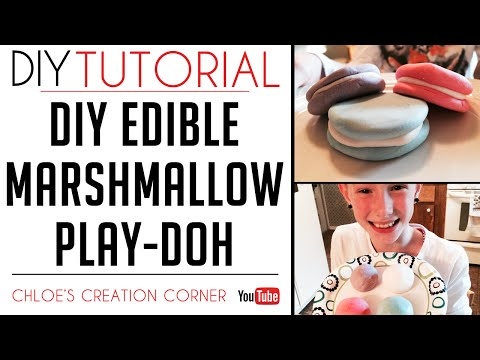 DIY Edible Marshmallow Play-Doh | Edible Play Dough