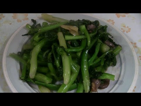 Cooking Chinese Vegetables  牛肉炒芥兰 (Beef And Gai Lan Stir Fry)  Beef And Chinese Broccoli