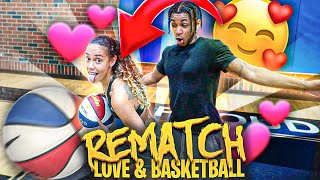 INTENSE REMATCH 1v1 Love & Basketball 😍**GETS HEATED**