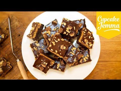 Peanut Butter Cookie Dough Brownies | Cupcake Jemma