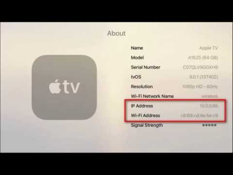 How to Find Your Apple TV's IP and MAC Address