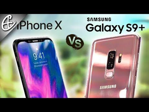 Samsung Galaxy S9 Plus vs iPhone X - Quick Look Comparison!