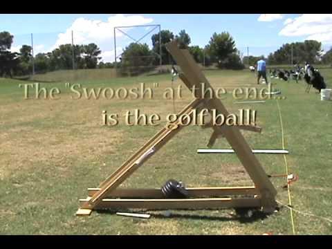 Golf Ball Trebuchet:  700 foot distance