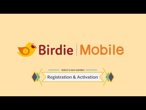 Birdie Mobile - Tutorial - Select a new number