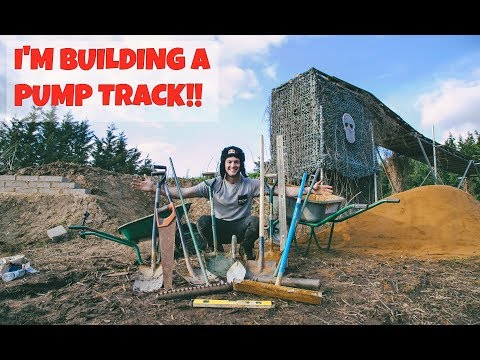 I'M BUILDING AN INSANE PUMP TRACK!!
