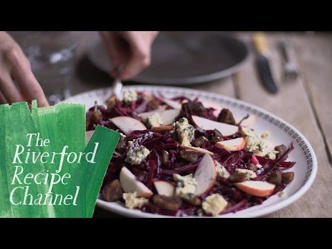 Red Cabbage Salad with Blue Cheese & Crispy Chestnuts recipe