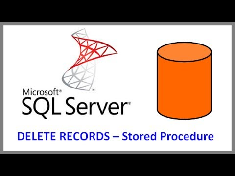 SQL Server -- DELETE RECORDS FROM TABLE VIA STORED PROCEDURE