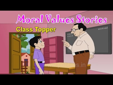 Moral Values in Hindi for Kids | Class Topper | Moral Lessons For Children | Moral Values Stories