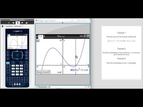 How to find a maximum or minimum point on a function's curve with the TI Nspire CX